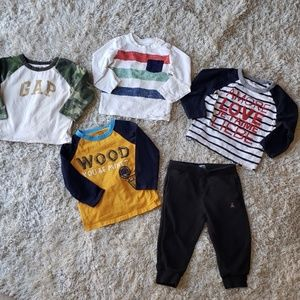4 pieces -- 18-24m Baby Gap long-sleeve shirts